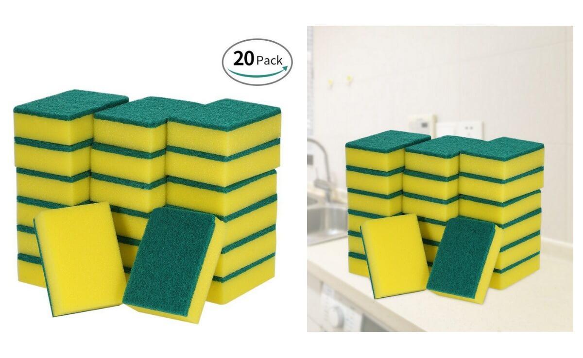 Hot Deal Esonmus 20 Pack Multi Use Heavy Duty Scrub