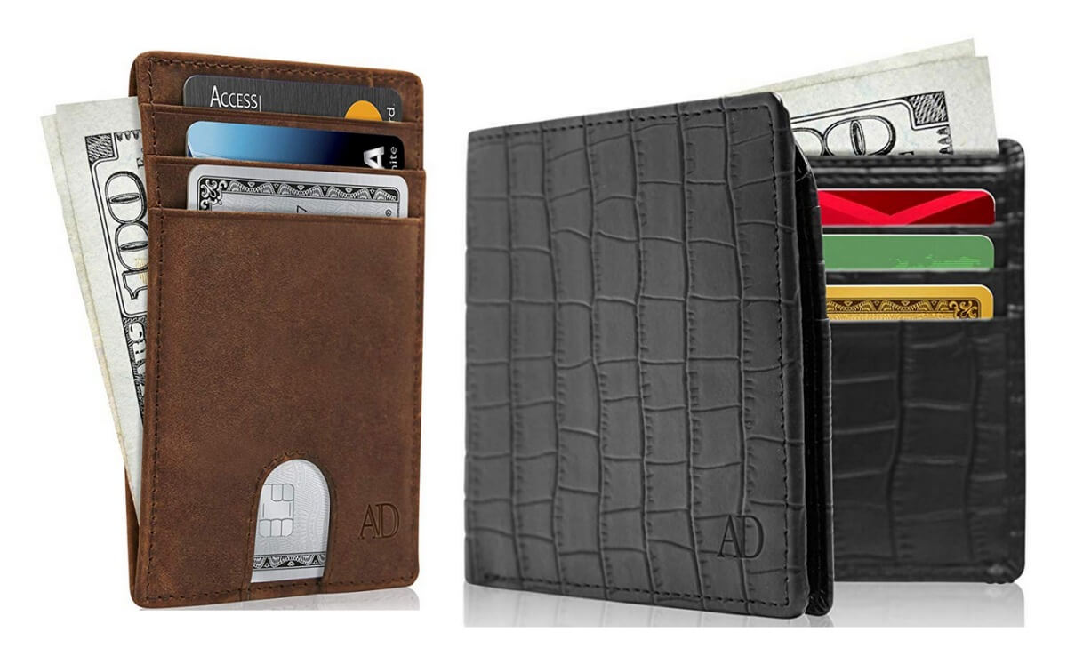 Save up to 33% on Slim Leather Wallets with RFID {Amazon
