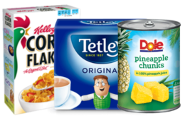Today's Top New Coupons - Save on Tetley, Dole, Kellogg's & More
