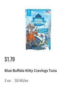 Blue Buffalo Cat Treats Coupon