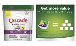 Stock Up Price! Cascade Platinum Plus Actionpacs, Lemon, 70 Count {Amazon}
