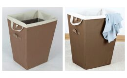 Mainstays Brown Removable Liner Hamper, 2 Pack $12.97 (reg $25.94) at Walmart