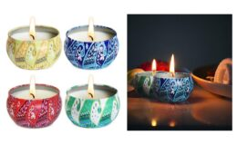 Scented Essential Oils Tin Candle Set of 4 by Aimanni, Extra Savings on Amazon