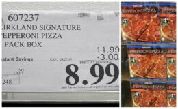 Costco: Hot Deal on Kirkland Signature Thin Crust Pepperoni Pizza, 4 ct.