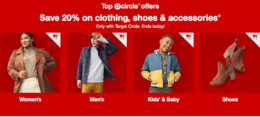 Last Day! 20% Off All Clothing, Shoes, and Accessories at Target