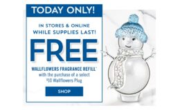 Free Refill with Wallflowers Plug Purchase + $10 off $30 at Bath & Body Works {Today Only}