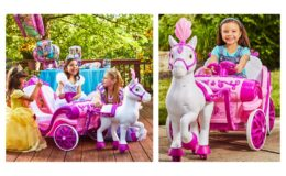Disney Princess Royal Horse and Carriage Girls 6V Ride-On Toy by Huffy $99 (Reg. $199)