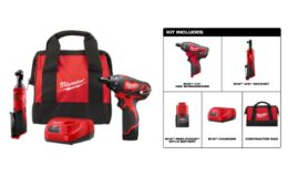 Milwaukee M12 12-Volt Lithium-Ion Cordless Tool Combo Kit $99.99 (Reg. $199.99) at Home Depot!