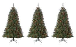 Jaclyn Smith 6.5' Cashmere Pine Christmas Tree with Multicolor Lights $13.99 after Points (Reg $189.99)