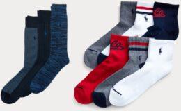 Extra 40% + 10% Off at Ralph Lauren - 6-Pair Polo RL Men's Socks $11.87 (Reg. $26) & More