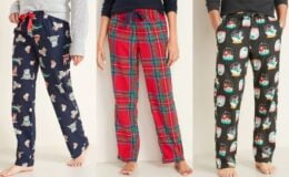 Old Navy PJ Pants for the Family just $5 & Holiday Tees $3-$4