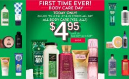 1st Time Ever All Body Care at Bath & Body Works $4.95 Each (Reg. Up to $16.50)