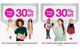 Today Only! 30% Off Women's and Kid's Clothing, Shoes & Accessories at Target
