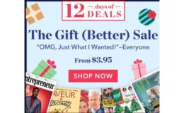 12 Days of Deals Magazine Sale From $3.95/Yr