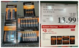 Costco:  Hot Deal on Duracell Batteries - Different Varieties - as low as $0.35 per battery!