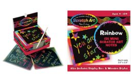 50% off Melissa & Doug Scratch Art Box of Rainbow Mini Notes {Amazon}