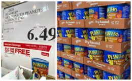Costco:  Hot Deal on Planters Dry Roasted Peanuts - BOGO!