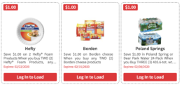Over $142 in New ShopRite eCoupons - Save on Hefty, Borden, Poland Springs & More
