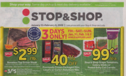 Stop & Shop Preview Ad for 1/31  Is Here!