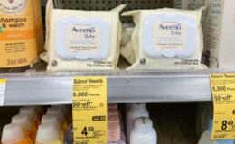 Aveeno Baby Hand & Face Wipes Just $1.99 at Walgreens!