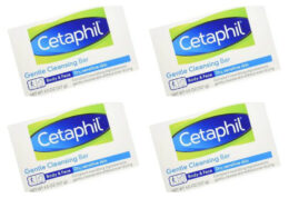 Stock Up Price! Cetaphil Gentle Cleansing Bar for Dry/Sensitive Skin 4.50 Ounce (Packs of 6)