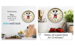 25% off Echo Wall Clock - Disney Mickey Mouse Edition on Amazon!