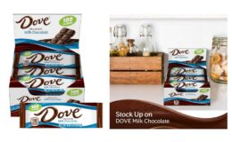 Stock Up Price! Dove 100 Calories Milk Chocolate Candy Bar 0.65-Ounce Bar 18-Count Box