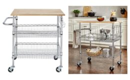 Gatefield Chrome Large Kitchen Cart with Rubber Wood Top by Stylewell $64.78 Shipped (Reg.$89.97) at Home Depot