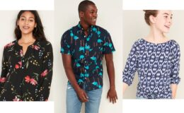 All Old Navy Shirts and Blouses 50% Off Today Only!