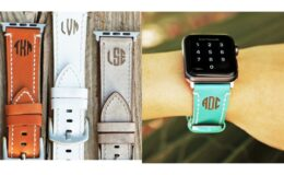 Monogram Leather Apple Watch Bands just $10.99 {Orig: $49.99} + Free Shipping!