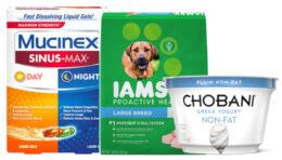 Today's Top New Coupons - Save on Mucinex, Iams, Chobani & More