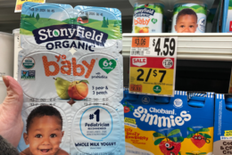 Stonyfield YoBaby Multipacks only $1.50 at Stop & Shop