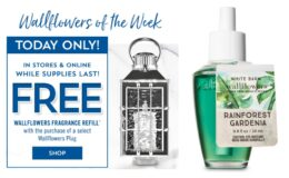 Free Refill with Wallflowers Plug Purchase + $8 Single Wick Candles at Bath & Body Works {Today Only}