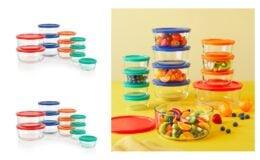 Pyrex 24-piece Simply Store Round Glass Food Storage Set $17.42 (Reg.$29.99) at Walmart!