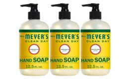 30% off Mrs. Meyer's Clean Day Liquid Hand Soap, Honeysuckle Scent, 12.5 fl oz (3 ct) {Amazon}