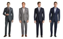 Jos A Bank Men's Suits on Clearance extra 50% off - Traveler Collection Tailored Fit Windowpane Suit $93.50 (Reg.$798)
