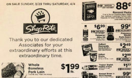ShopRite Preview Ad for the week of 3/29/20