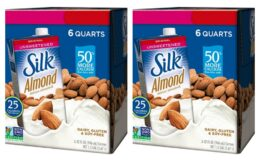 Nice Price 26% Off! Silk Almond Milk Unsweetened Original 32 oz (Pack of 6)