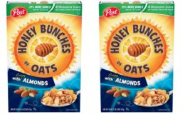 Nice Price! Post Honey Bunches of Oats with Crispy Almonds, Whole Grain, Low Fat Breakfast Cereal 18 oz. Box