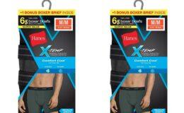 Hanes Men's X-Temp Boxer Briefs 6-Pack  $10.98 (Reg. $20.99) + Free Shipping!