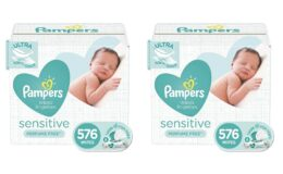 27% Off Pampers Sensitive Water Based Baby Diaper Wipes, 576 Total Wipes {Amazon}
