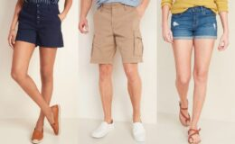 HOT! Old Navy Shorts for the Family 50% Off Today Only!