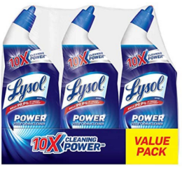 In Stock! Lysol Lysol Power Toilet Bowl Cleaner, 10x Cleaning Power, 3 Count