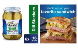 Nice Price! Vlasic Purely Pickles Kosher Dill Stackers, 6 - 16 FL OZ Jars {Amazon}