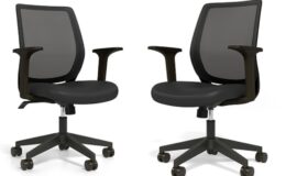 Staples Essentials Mesh Back Fabric Task Chair $39.99 (Reg. $89.99)+ Free Shipping!