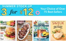 3 for $12 Summer Magazine Sale