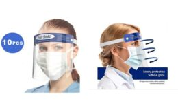 Reusable Anti-Fog Face Shields with Adjustable Headbands and Foam Padding (10-Pack) $24.99 at Woot!