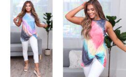 Surfer Girl Tie Dye Tank Top $18.99 (Reg. $38.99) on Jane.com!