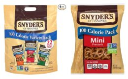 Snyder's of Hanover Pretzels, Variety Pack of 100 Calorie Individual Packs (Pack of 4 Boxes, 22 Count Each) {Amazon}