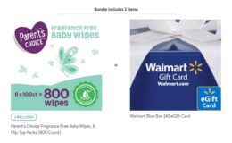 Parent's Choice Fragrance Free Baby Wipes | 1600 Wipes just $25.76 + $10 Walmart eGift Card
